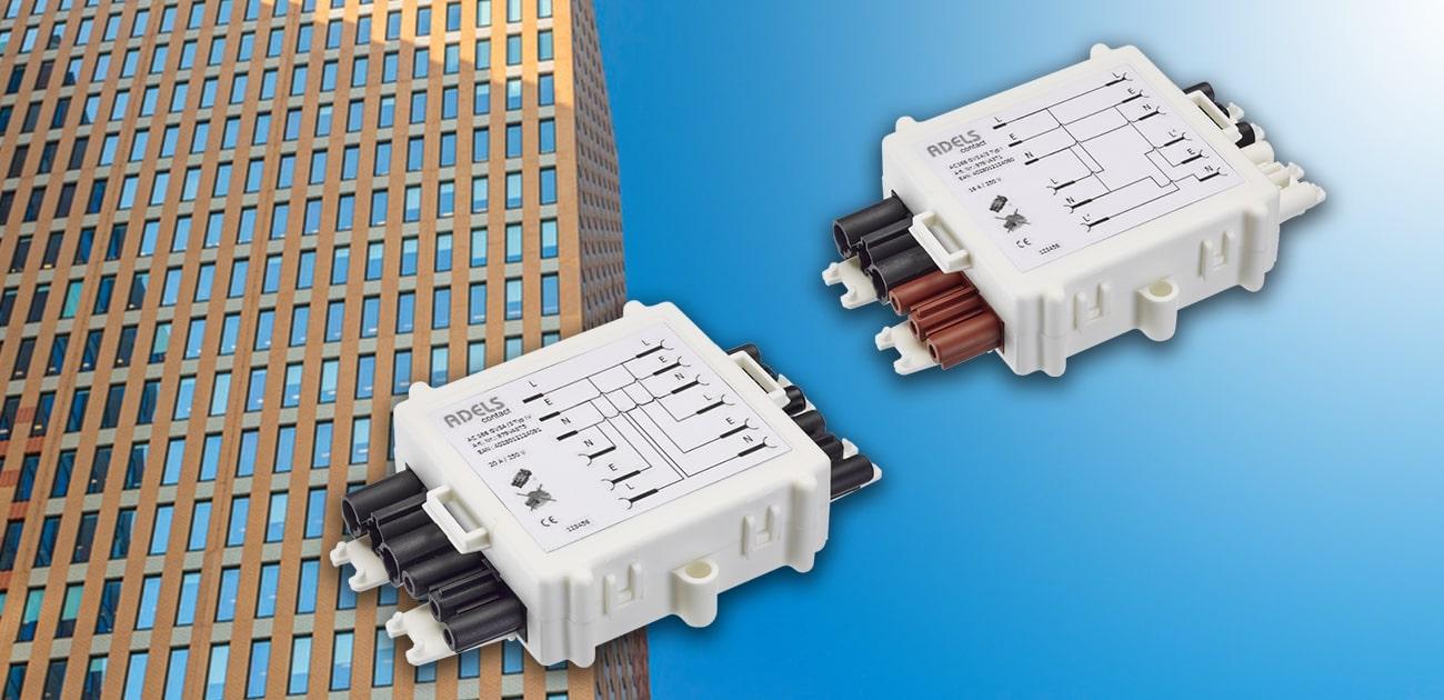 Schakelbox voor stekerbare installaties met Adels Contact
